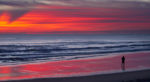 red dawn, coolum beach, sunshine coast, sunday, landscape photograpphy, visit queensland, beach life, australian life